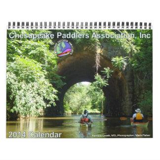 Calendario 2014 de la asociación de los Paddlers