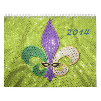 Calendario 2014 de la flor de lis
