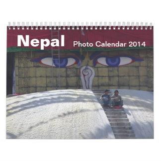 Calendario 2014 de la foto de Nepal