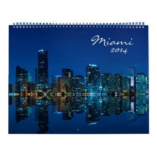 Calendario 2014 de la foto del horizonte de Miami