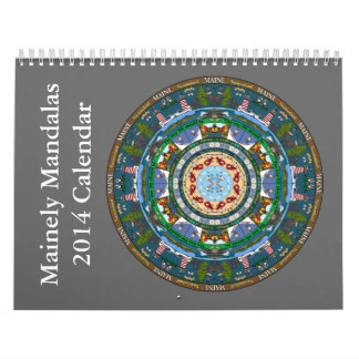 Calendario 2014 de la mandala del estado de Maine