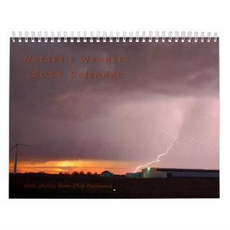 Calendario 2014 de la maravilla de la naturaleza