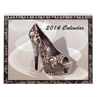 Calendario 2014 de la moda de los zapatos del tacó