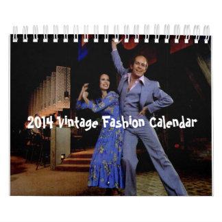 Calendario 2014 de la moda del vintage