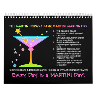 CALENDARIO 2014 de la RECETA de MARTINI - días de