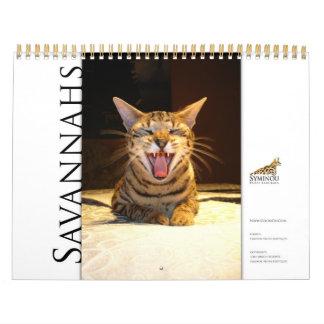 Calendario 2014 de la sabana del calendario de Sym