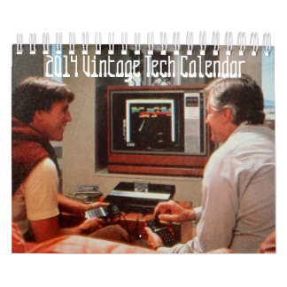Calendario 2014 de la tecnología del vintage