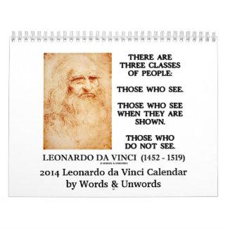 Calendario 2014 de Leonardo da Vinci