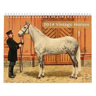 Calendario 2014 de los caballos del vintage