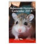 Calendario 2014 de los hámsteres de Roborovski