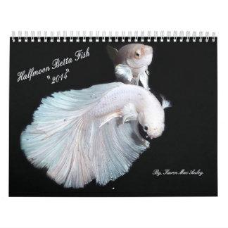 Calendario 2014 de los pescados de Betta de la