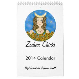 Calendario 2014 de los polluelos del zodiaco