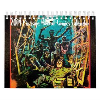 Calendario 2014 de los tebeos del horror del vinta