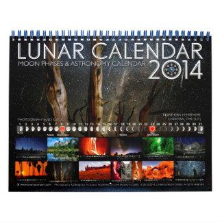 Calendario 2014 de pared de la astronomía del cale