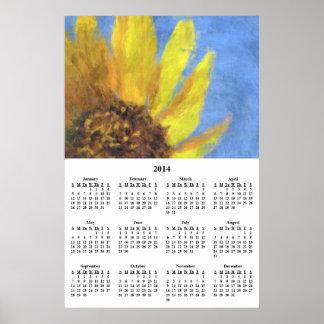 Calendario 2014 de pared de las impresiones del gi