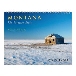 Calendario 2014 de pared de Montana