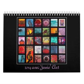 Calendario 2014 del arte de Jessie - ilustraciones