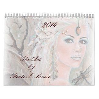 Calendario 2014 del arte de la fantasía por Renee
