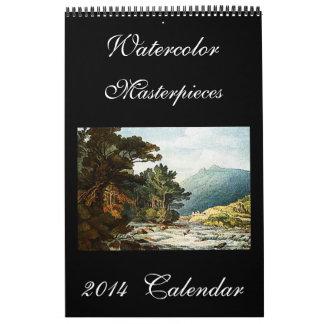 Calendario 2014 del arte de las pinturas de la