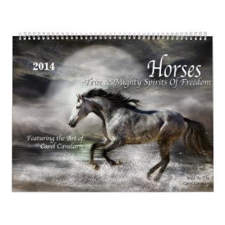 Calendario 2014 del arte de los caballos