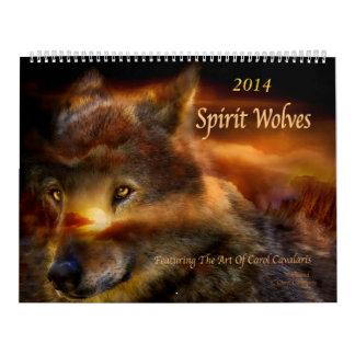 Calendario 2014 del arte de los lobos del alcohol