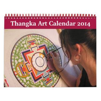 Calendario 2014 del arte de Thangka