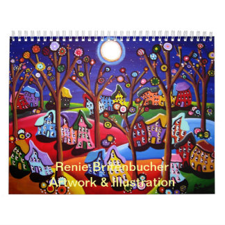Calendario 2014 del arte popular de Renie Britenbu
