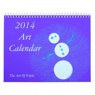 Calendario 2014 del arte por el arte de Vikki