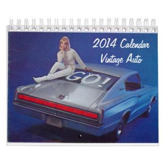 Calendario 2014 del auto del vintage