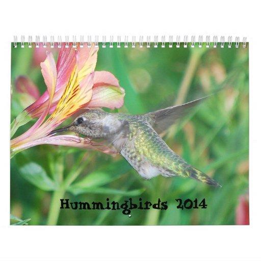 Calendario 2014 del colibrí