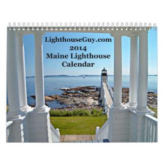 calendario 2014 del faro de LighthouseGuy.com