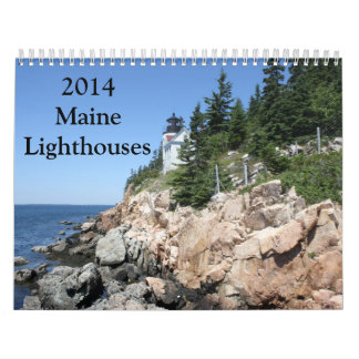 Calendario 2014 del faro de Maine