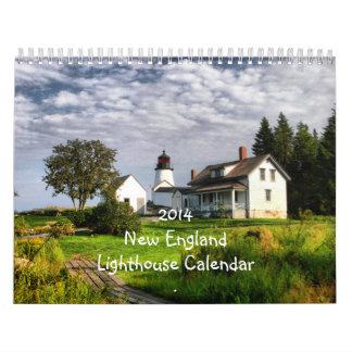 Calendario 2014 del faro de Nueva Inglaterra