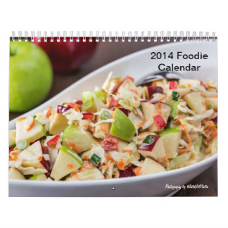 calendario 2014 del foodie de 11 x 17 dos-páginas