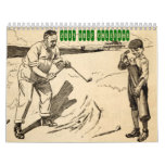 Calendario 2014 del golf del vintage