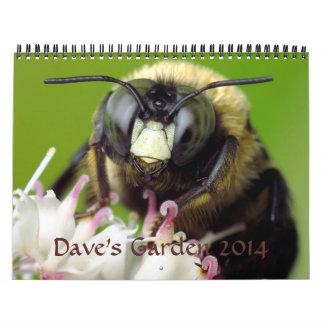 Calendario 2014 del jardín de Dave
