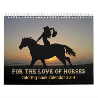 ¡Calendario 2014 del libro de colorear de los caba