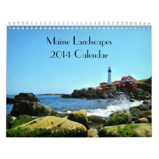 Calendario 2014 del paisaje de Maine