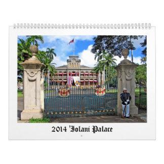 Calendario 2014 del palacio de Iolani