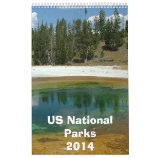 Calendario 2014 del parque nacional de los