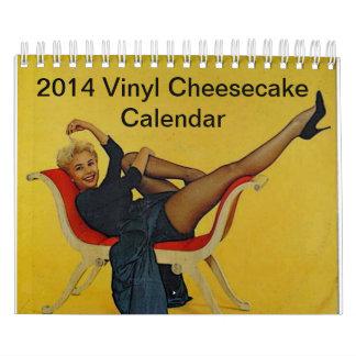 Calendario 2014 del pastel de queso del vinilo