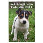 Calendario 2014 del perrito de Jack Russell Terrie