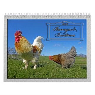 Calendario 2014 del pollo de los gallos del corral