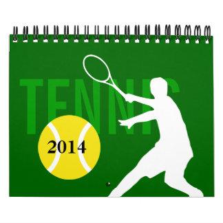 Calendario 2014 del tenis para los fans y los