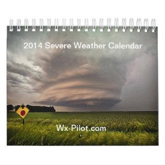 Calendario 2014 del tiempo severo del Wx-Piloto
