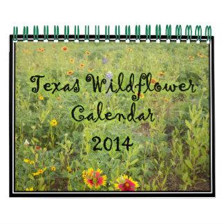 Calendario 2014 del Wildflower de Tejas