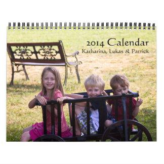 Calendario 2014: Katharina, Lukas y Patrick