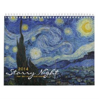 Calendario 2014: Noche estrellada - el arte de Van