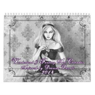 Calendario 2014 - país de las maravillas y arte de