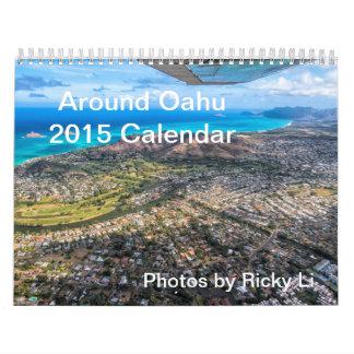Calendario 2015 - alrededor de Oahu